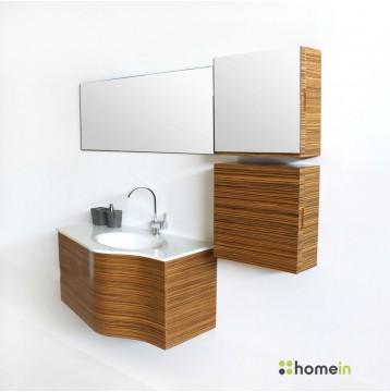 Έπιπλο μπάνιου 7162 zebrano 110cm OEM