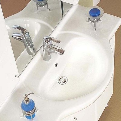 Έπιπλο μπάνιου 105x190 Λευκό