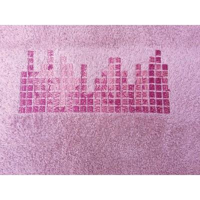 Σετ πετσέτες 3 τεμαχίων CITY Ροζ