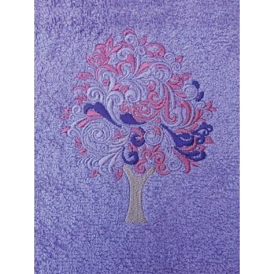 Σετ πετσέτες 3 τεμαχίων TREE Μωβ
