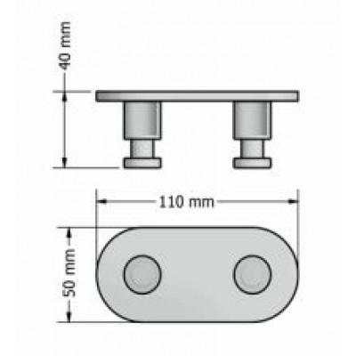 Άγκιστρο μπάνιου διπλό Ergon Sanco A3-0646