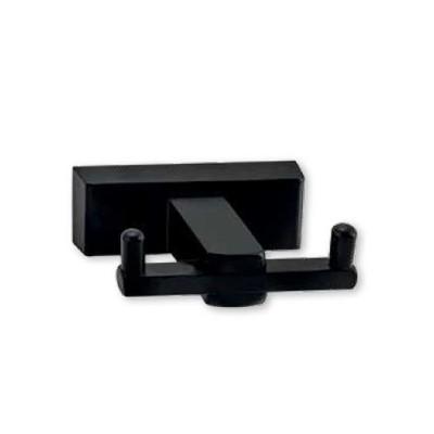 Άγκιστρο μπάνιου διπλό Atlantic Viometale μαύρο ματ