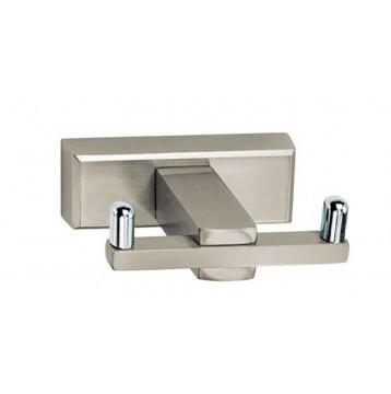 Άγκιστρο μπάνιου διπλό Atlantic Viometale νίκελ ματ/χρώμιο