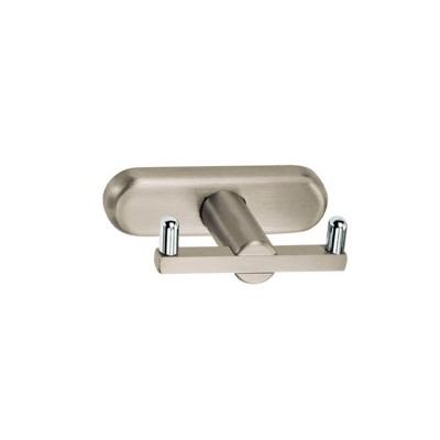 Άγκιστρο μπάνιου διπλό Pacific  Viometale νίκελ ματ/χρώμιο