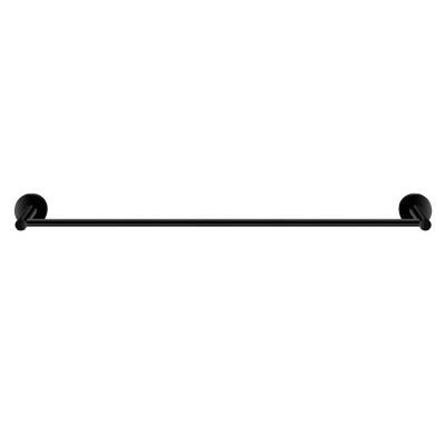 Πετσετοθήκη μπάνιου μονή  Twist Sanco M116-14304 Μαύρο ματ