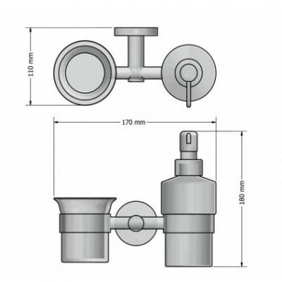 Διανομέας σαπουνιού - Ντισπένσερ και ποτηροθήκη Ergon Sanco A3-259122