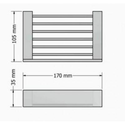 Σαπουνοθήκη μπάνιου μεταλλική επιτοίχια Allegory Sanco A3-25642