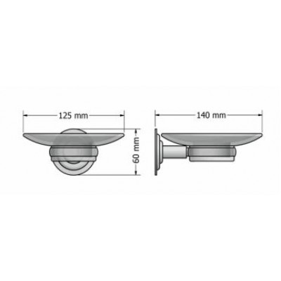 Σαπουνοθήκη μπάνιου επιτοίχια Retro Sanco A25-10302