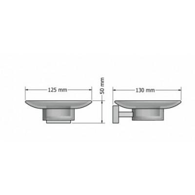 Σαπουνοθήκη μπάνιου  Enigma Sanco M116-26102 Μαύρο ματ