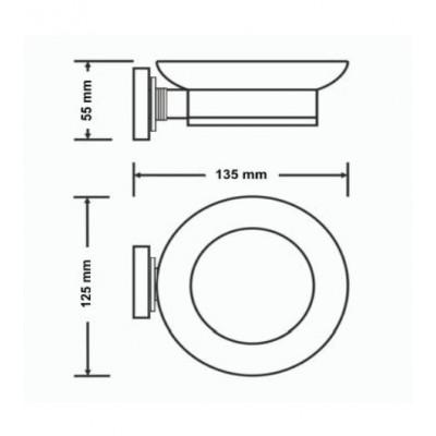 Σαπουνοθήκη μπάνιου Versus Sanco A4-14802 χρώμιο - χρυσό