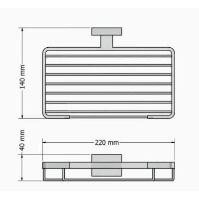 Σπογγοθήκη μπάνιου  Enigma Sanco M116-26103 Μαύρο ματ