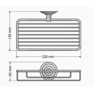 Σπογγοθήκη μπάνιου επιτοίχια Retro Sanco A25-10303