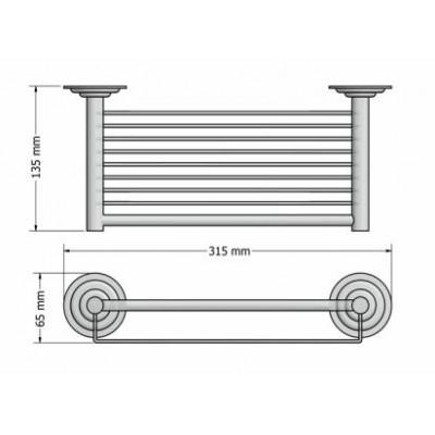 Σπογγοθήκη μπάνιου επιτοίχια Retro Sanco A25-10343