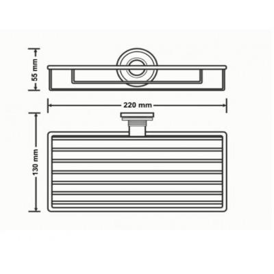 Σπογγοθήκη μπάνιου επιτοίχια Versus Sanco A4-14803 χρώμιο - χρυσό