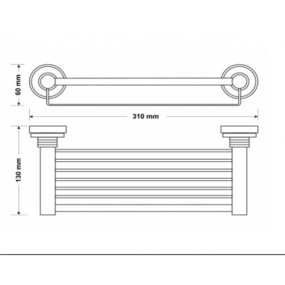 Σπογγοθήκη μπάνιου επιτοίχια Versus Sanco A4-14843 χρώμιο - χρυσό
