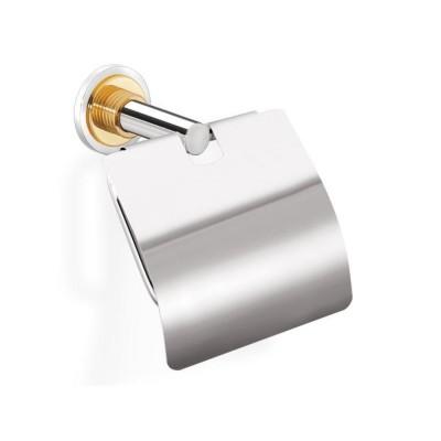 Χαρτοθήκη μπάνιου με καπάκι Versus Sanco A4-14817 χρώμιο - χρυσό