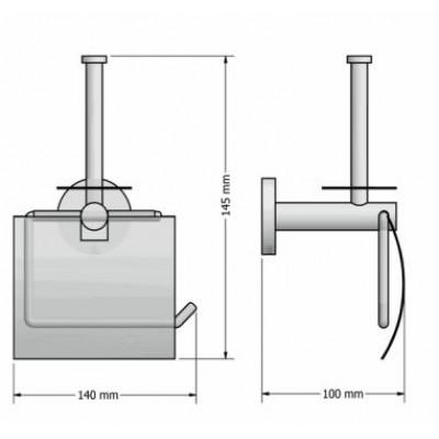 Χαρτοθήκη  μπάνιου με καπάκι και εφεδρική Ergon Sanco A3-25937
