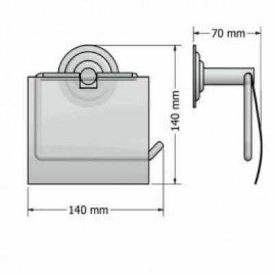Χαρτοθήκη μπάνιου με καπάκι Retro Sanco A25-10317