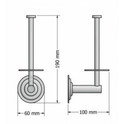 Χαρτοθήκη μπάνιου εφεδρική Retro Sanco A25-10316