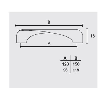 Λαβή επίπλων Conset C739 νικελ ματ/χρώμιο