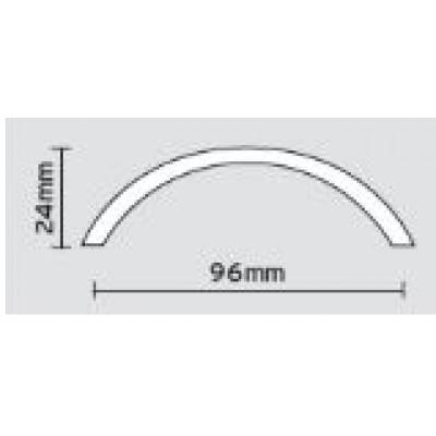 Λαβές επίπλων Viometale 05.38 νίκελ ματ/χρώμιο