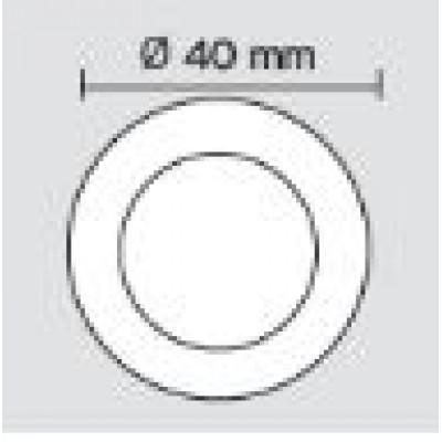 Χουφτάκι επίπλων Viometale 09.22 νίκελ ματ