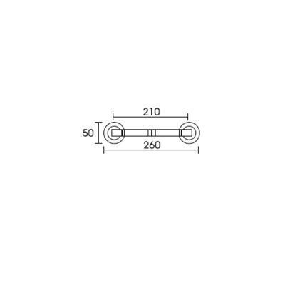 Λαβή Εξώπορτας Conset C1055  νίκελ ματ/χρώμιο και χρυσό/χρυσό ματ