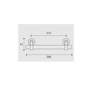 Λαβή εξώπορτας Conset C544 σε νίκελ ματ