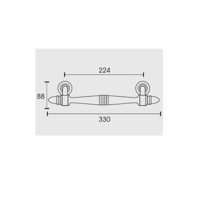 Λαβή Εξώπορτας λοξή Conset C743 νίκελ ματ