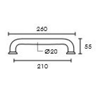 Λαβή Εξώπορτας Convex C1335 ανοξείδωτο ματ