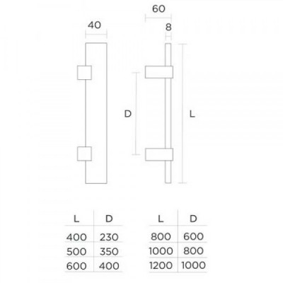 Λαβή Εξώπορτας Convex 1059 ανοξείδωτη
