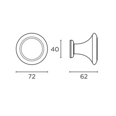 Μπουλ Εξώπορτας Convex 233/72 νίκελ ματ/ χρώμιο