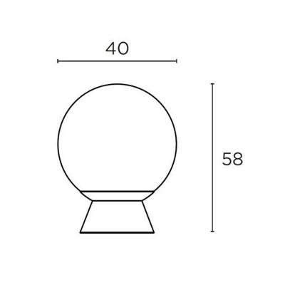 Μπουλ Εξώπορτας Convex 789/40 νίκελ ματ