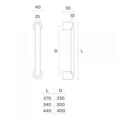 Λαβή Εξώπορτας Convex 1065 ανοξείδωτη