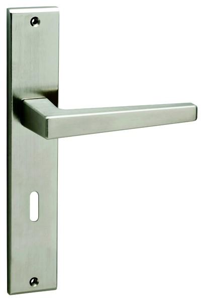 Πόμολο πόρτας με πλάκα Viometale 06.900 νίκελ ματ
