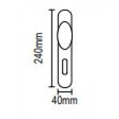 Πόμολο πόρτας με πλάκα στρογγυλό Viometale 06.180 νίκελ ματ/χρώμιο