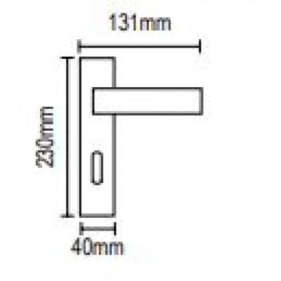 Πόμολο πόρτας με πλάκα Viometale 06.930 νίκελ ματ