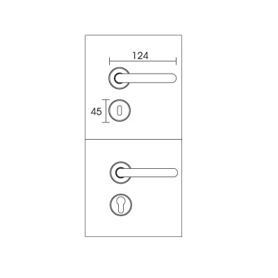 Πόμολο πόρτας με πλάκα Conset C605 χρυσό ματ