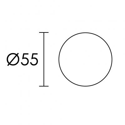 Ροζέτα Πόρτας Conset C1415 νίκελ ματ/χρώμιο