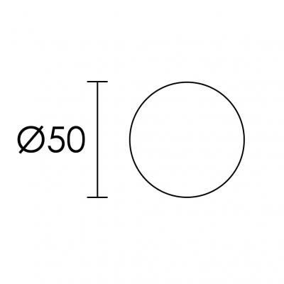 Ροζέτα Πόρτας Conset C1045 σε νίκελ ματ και χρυσό ματ