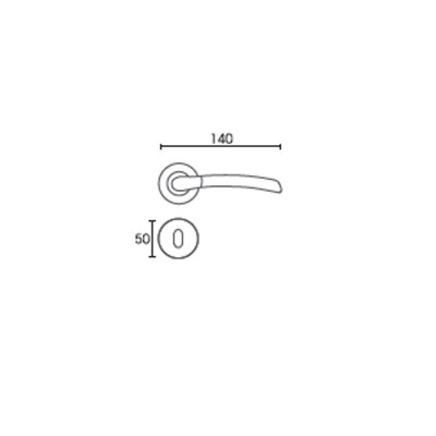 Πόμολο πόρτας με ροζέτα Conset C1045 χρυσό/χρυσό ματ