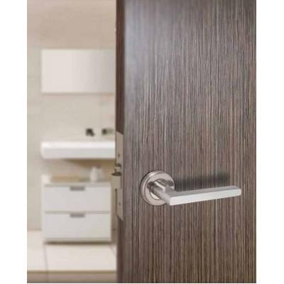 Πόμολο πόρτας με ροζέτα Conset C1275 νίκελ ματ-χρώμιο
