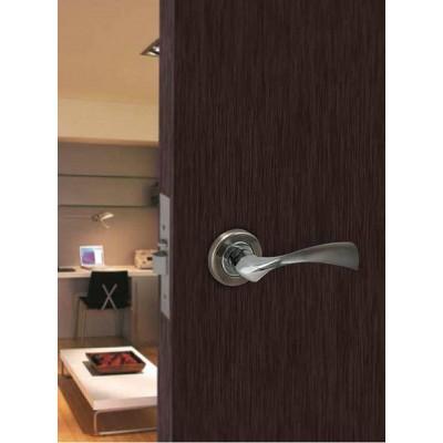 Πόμολο πόρτας με ροζέτα Conset C1415 νίκελ ματ/χρώμιο