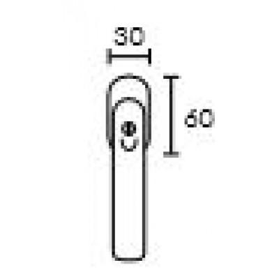 Πόμολο παραθύρου με ανάκλιση Conset C1455 άσπρο