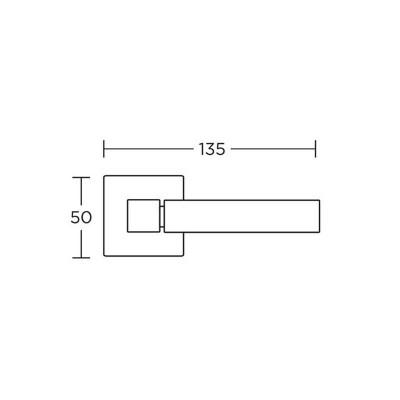Πόμολα πόρτας με ροζέτα Convex 735 νίκελ ματ/χρώμιο