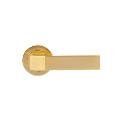 Πόμολο πόρτας με ροζέτα βαρέως τύπου OEM 1781 χρυσό ματ