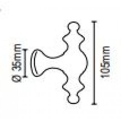 Μπουλ εξώπορτας στρογγυλό Viometale 07.6000 νίκελ ματ/χρώμιο