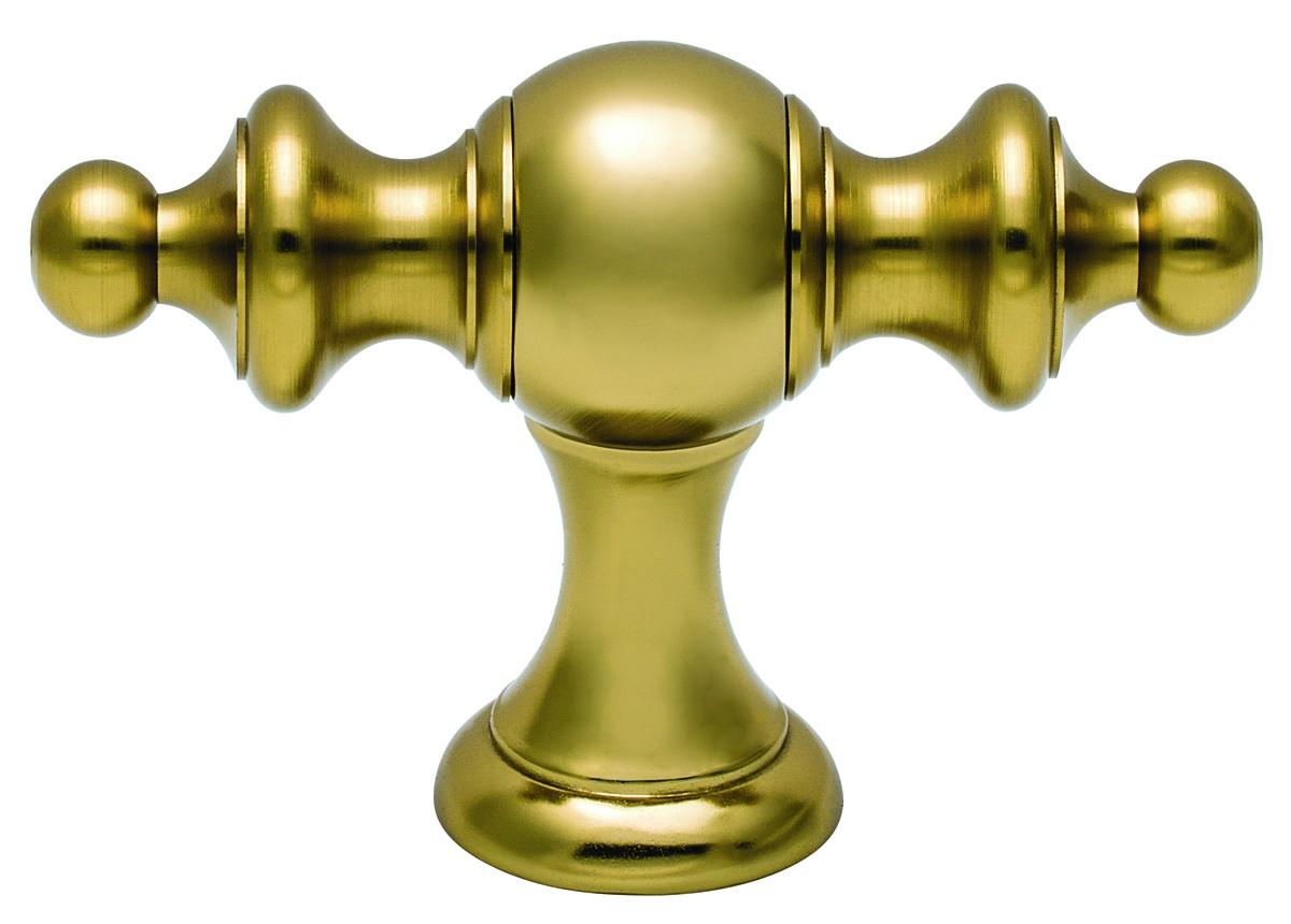 Μπουλ εξώπορτας στρογγυλό Viometale 07.6000 χρυσό χρυσό/ματ