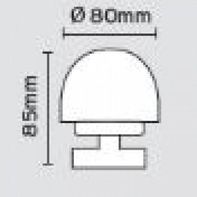 Μπουλ εξώπορτας στρογγυλό Viometale 07.17/80 νίκελ ματ/χρώμιο