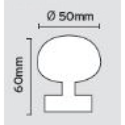 Μπουλ εξώπορτας στρογγυλό Viometale 07.2/50 νίκελ ματ